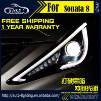 AKD Car Styling Head Lamp For Sonata Headlight Sonata8 YF 2011 15 LED Headlight LED DRL