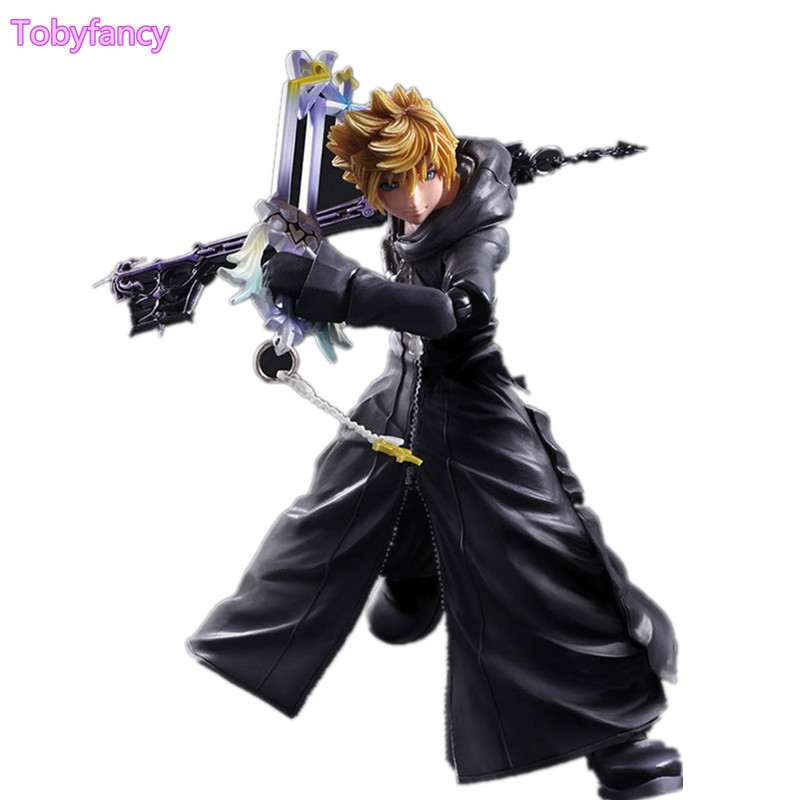 Kingdom Hearts Roxas Sora Play Arts Kai PVC Action Figure Toy 26cm Movie Game Anime Kingdom Hearts II Playarts Kai Toys kingdom hearts play arts kai roxas sora pvc action figure toy 26cm movie game anime kingdom hearts ii playarts kai