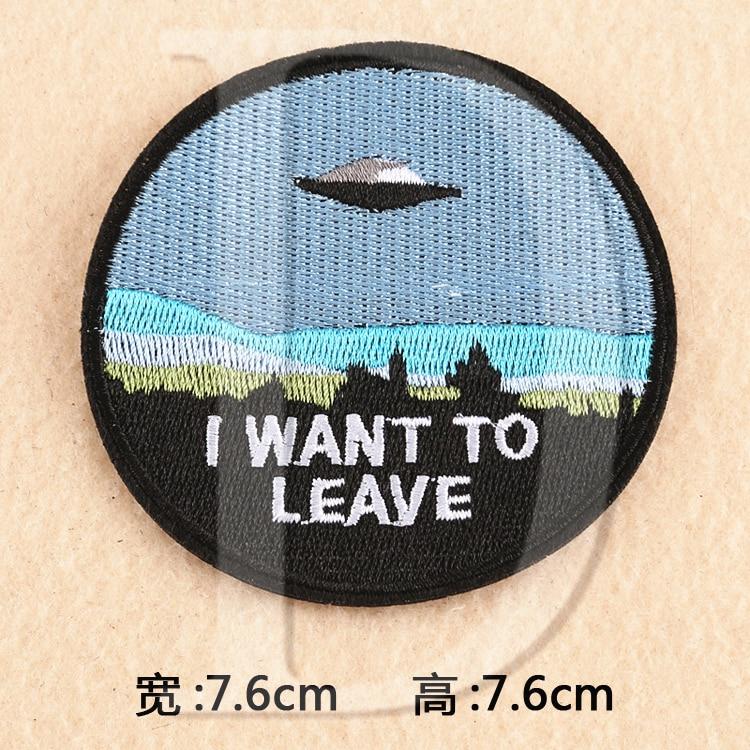 ୧ʕ ʔ୨1 unids UFO Alien parches hierro bordado en Parches para la ...
