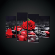 4pcs 5d diy diamond Red rose full square drill embroidery rhinestones painting kit triptych H393