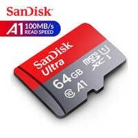 Scheda di Memoria SanDisk Ultra micro SD Card 16GB 32GB 64GB 128GB 256GB 400GB microSDHC /micrSDXC U1 C10 A1 UHS-I TF Card con Adattatore