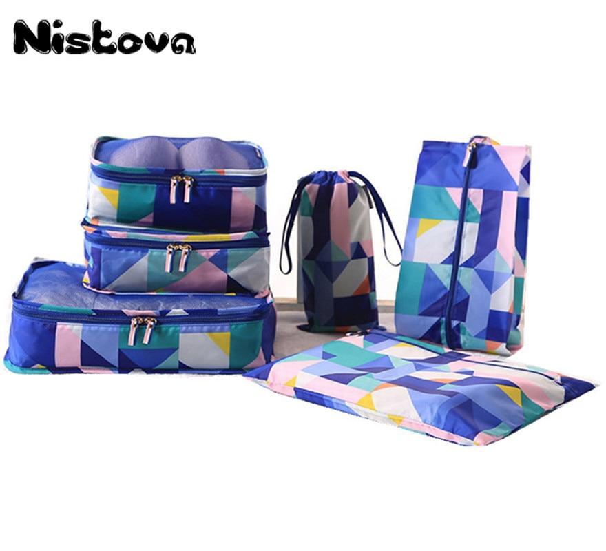 1/6/8/10 Pcs Durable Unisex Travel Packing Cubes Set Organizer Luggage Bags Large Capacity Travel Hand Clothing Sorting Organize