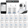 KR-N62  Mobile Android & IOS App Control Video Monitoring Anti-theft Alarm System Camera WIFI Network Camera Alarm System
