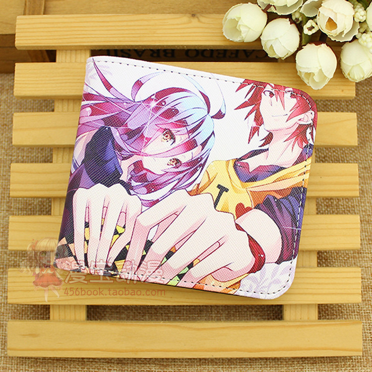 Anime NO GAME NO LIFE COSPLAY Anime Men and Women Large Capacity Multi-card Student Fashion Wallet birthday gift
