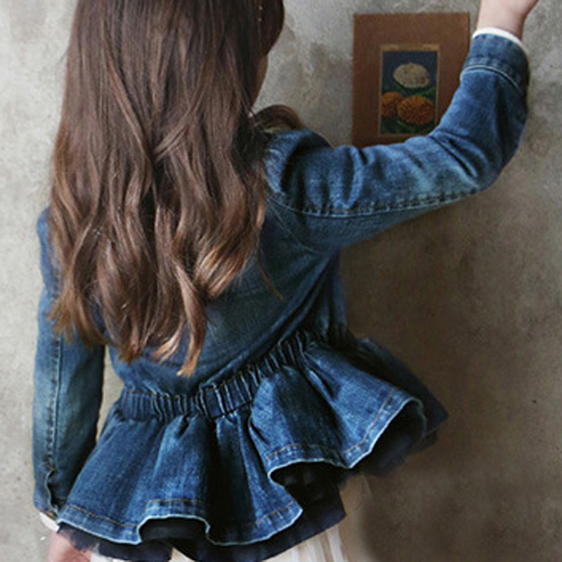 Teenage Baby Girls Clothes Jeans Coat Babe Girls Jeans Jackets Denim Outerwear Children's Clothing Spring Autumn Kids Outfits