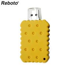 Reboto USB 2,0 мультфильм печенье USB флэш-накопитель 4 ГБ 8 ГБ 16 ГБ милые печенье U диск мини флеш-накопитель 32 Гб 64 ГБ