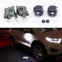2x LED For Ford Kuga Focus Taurus Mondeo Edge Explorer Led Side Mirror Puddle Logo Light