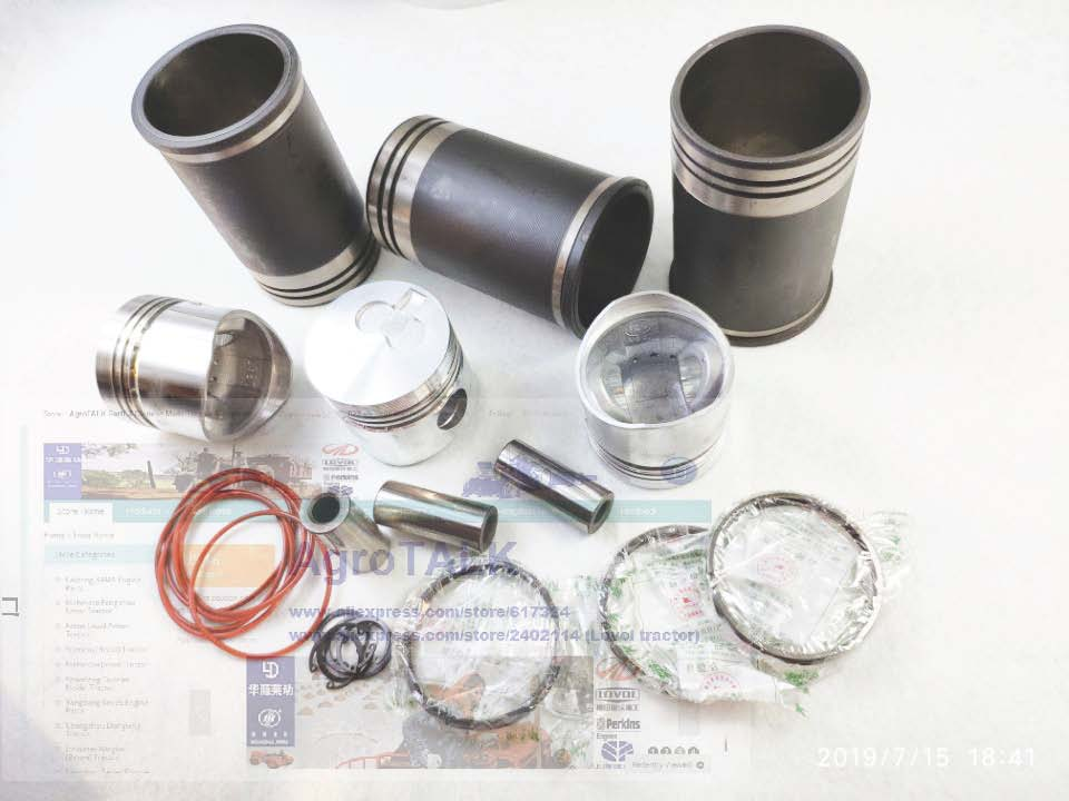 Laidong KAMA L380 swirl chamber set of piston piston pin piston rings and cylinder liners of