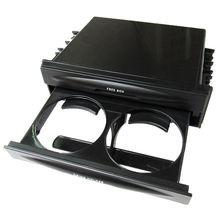 BBQ@FUKA Universal Car Double Din Dash Radio Installation Pocket Cup Holder Storage Box