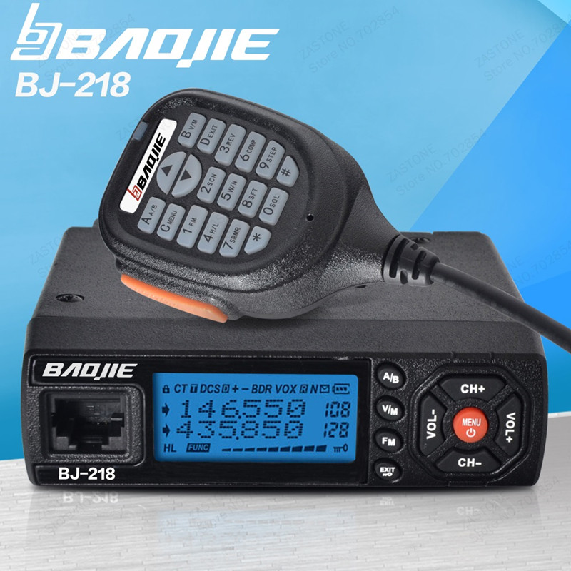 Baojie BJ 218 Mobile car transceiver 136 174Mhz 400 480MHz Dual Band Mobile Transceiver Radio stations for hunting