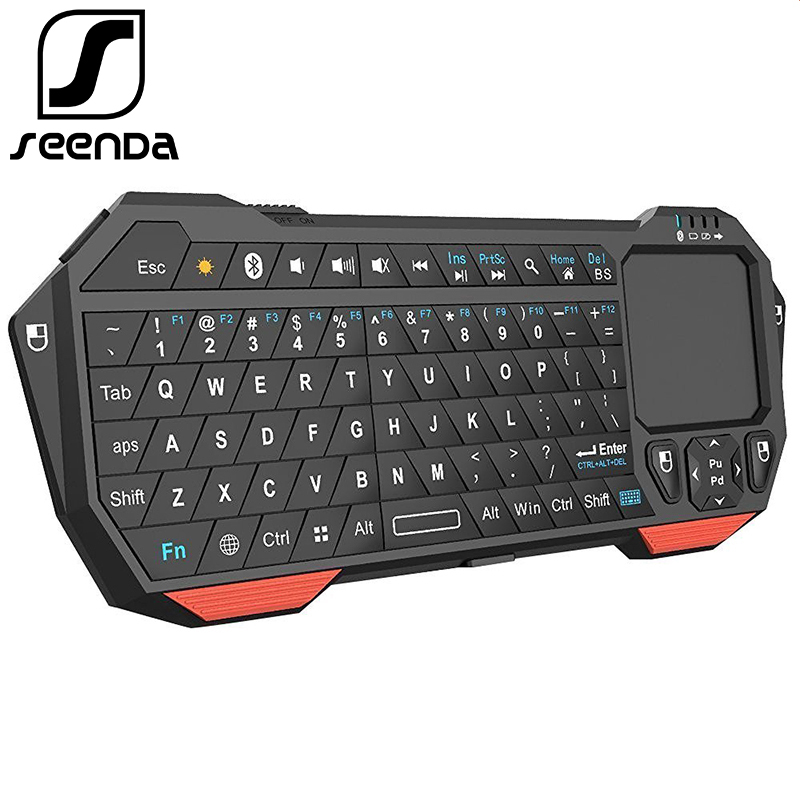 Seenda Mini Bluetooth 3.0 Keyboard With Touchpad For Computer Laptop Mini Keyboard For Phone TV Android IOS Universal Keyboards