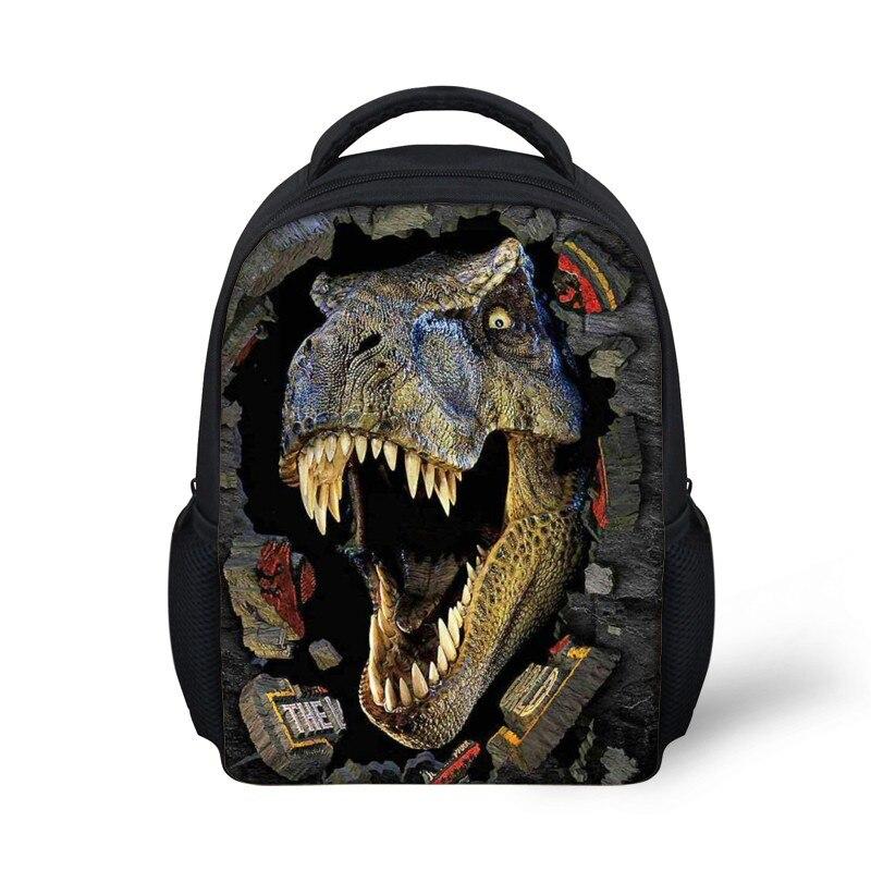 FORUDESIGNS Cool 3D Dinosaur School Bags Bagpack for Boys,Vintage 12Inch Toddler Kids SchoolBag Stylish School Set Bag Zipper