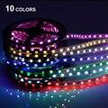 Tira CONDUZIDA 5050 DC12V 60 LEDs/m 5 m/lote Flexível do DIODO EMISSOR de Luz RGB 5050 Faixa de LED TV PC PS4 a luz de fundo