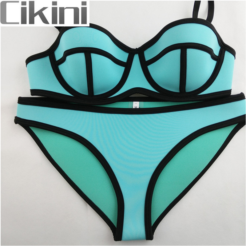 Swimwear Woman Neoprene Bikinis Women New Summer 2018 Sexy Swimsuit Bath Suit Push Up Bikini set Bathsuit Biquini TA001 neoprene swimwear women bikini woman new summer 2017 sexy swimsuit bath suit push up bikini set bathsuit ta008y