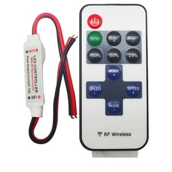 20pcs RF Wireless Remote Control Mini Dimmer For Single Color LED Light Strip 5V-24V