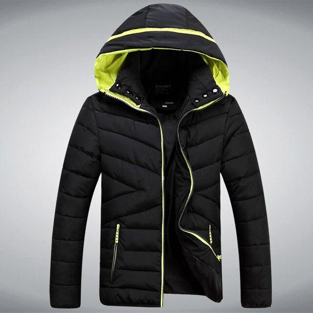 Down jacket com capuz, casacos de inverno homens jaqueta marca azul preto vermelho dos homens casaco de inverno, homens jaquetas Droship