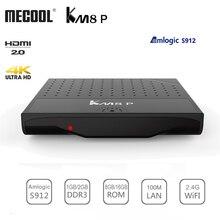 Mecool KM8 P Amlogic S912 Android 7,1 Smart ТВ коробка Встроенная память 1G/2G Оперативная память 8G/16G 2,4G Wi-Fi 4 K Ультра Тонкий HD Декодер каналов кабельного телевидения плеер Поддержка 3D