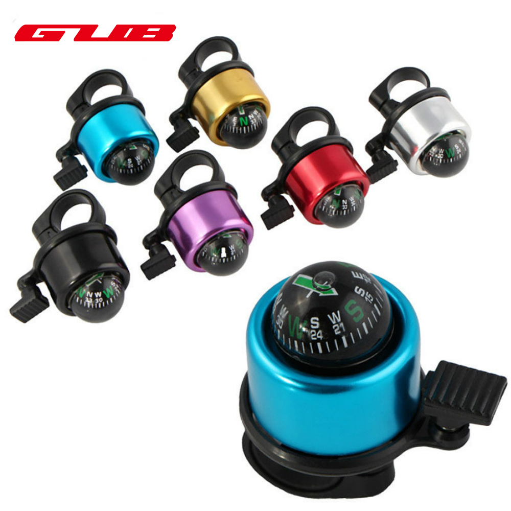GUB 2017 New Aluminum Alloy Bicycle Loud Bell Road Mountain Bike Compass Bell Sound Bike Handlebar Ring Horn 6 Colors