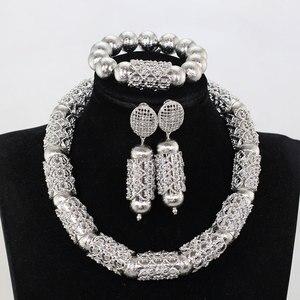 Женский комплект ювелирных изделий WE237, в комплекте серебряные и африканские Свадебные украшения с бусинами