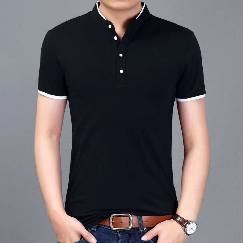 Summer Casual Men T-shirt Solid Short Sleeve Breathable Brand Tops Tees Cotton T Shirt Men Comfortable Slim Camisa Masculina
