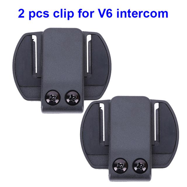 2 unids V6 encuadre de pinzas adecuado para motocicleta BT bluetooth de múltiples intercomunicador intercomunicador del casco auricular para V6 V4 V2-500C