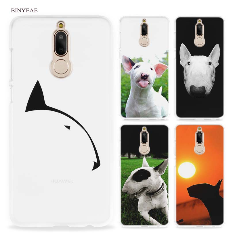 BINYEAE bullterrier bull terrier Hard Clear Case Cover for Huawei Mate 10 P8 P9 Lite Y5 II Y6 Y3 2017 Mini Honor 9