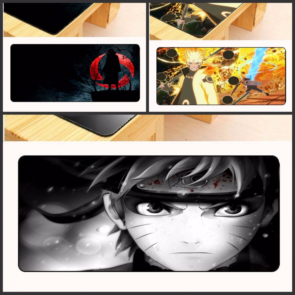 Yuzuoan 90x40cm pad to Mouse Notbook Computer Large Overlock Mousepad best Seller Gaming Mousepad Gamer For New Design Naruto