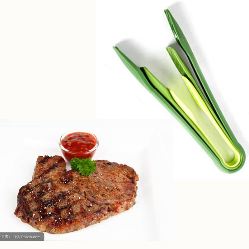 3Pcs/set Kitchen Tools Colorful Plastic Bread Clamp BBQ Tong Barbecue Clip Food Salad Tong BBQ tools