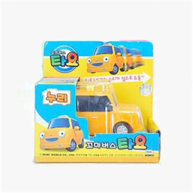 Tayo el pequeño autobús Tayo niños juguetes NURI oyuncak miniatura amarillo taxi coche tayo bus modelo de coche juguetes para niños