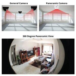 Image 2 - FUERS câmera de Vigilância IP 960P lâmpada Fisheye Panoramic camera Home Security sem fio Wi fi câmera de CCTV 360 Graus