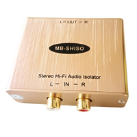 Stereo RCA Audio Noise Filter 2 CH RCA Audio Ground Loop Isolator Stereo Audio Eliminate Ground Loop Hum