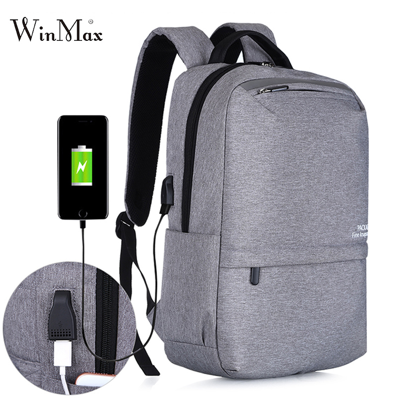 New Laptop Backpacks For Men USB Charging Backpacks Large Capacity Travel Bag Collage Backpack For Teenage Boys Rucksack Daypack