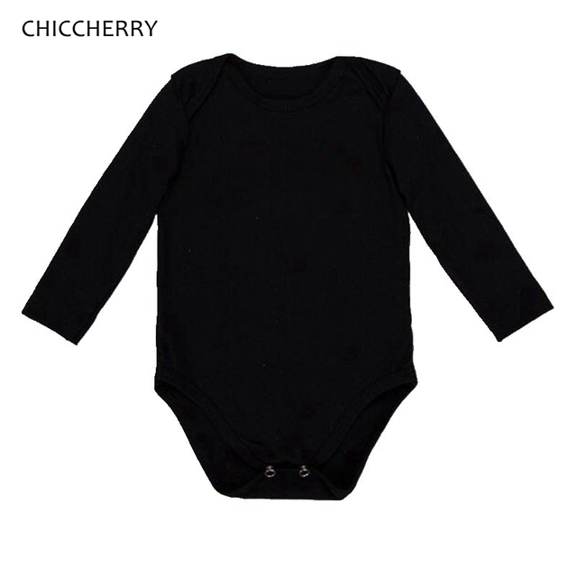 565729504 Plain Black White Long Sleeve Vests for Bodysuits Baby Girl Clothes Body  Macacao Bebe Kids Overalls