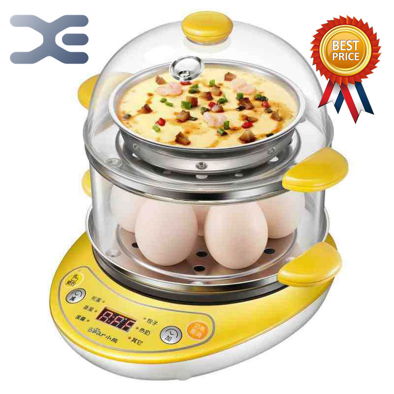 Egg Boiler Steamed Egg Eggs Roll Stainless Steel Kitchen Appliances 220V High Quality 220v double electric multi egg boiler steamed custards cooker machine stainless steel with 30 minutes timer auto off function