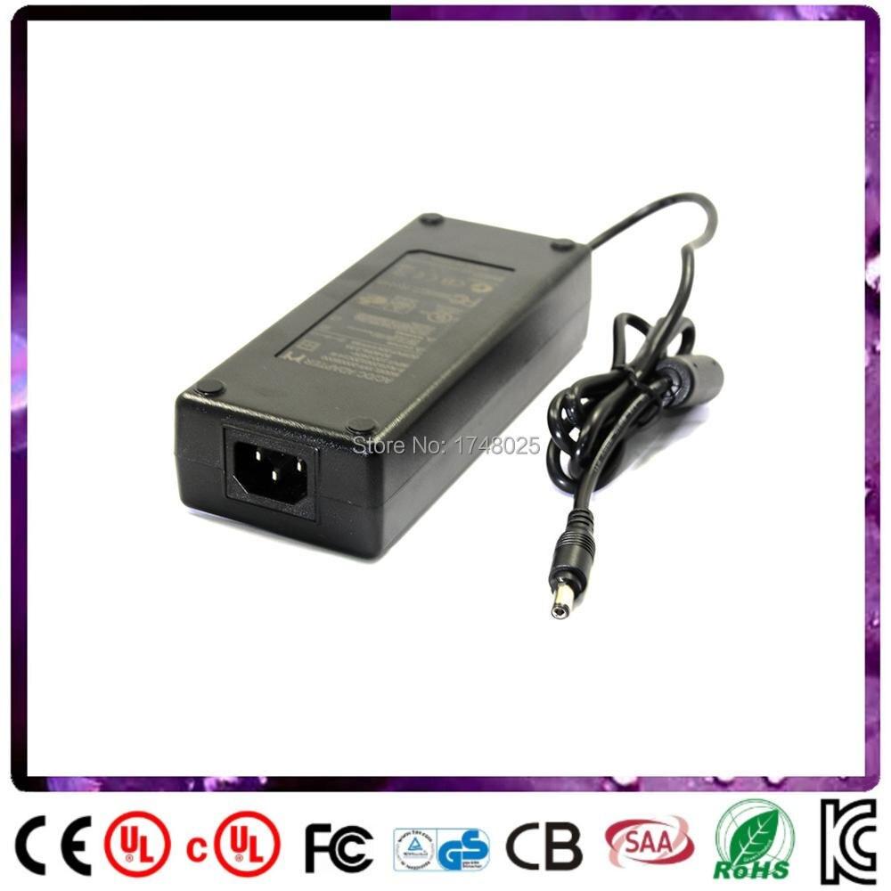 Livraison gratuite 24 volt 5 amp alimentation adaptateur 120 w adaptateur De Bureau C14 AC 5.5x2.1mm 0.9 m DC câble D'alimentation transformateur