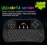 I86 Backlit Không Dây Bàn Phím Mini Điều Khiển Từ Xa Đèn Nền Đầy Màu Sắc Không Khí chuột cho Android TV Box IPTV Xbox PS3 Gamepad pk I8