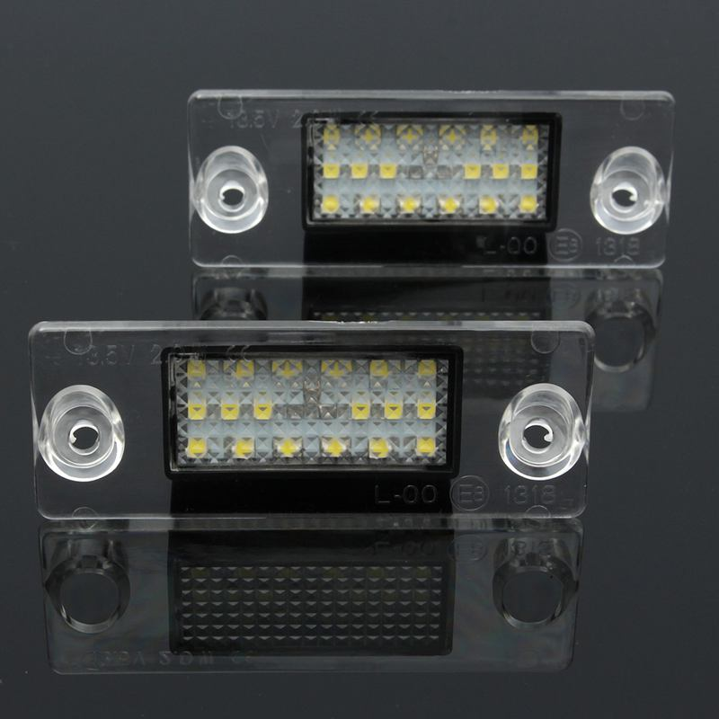 aeProduct.getSubject() & 2PCS/Pair Car Styling 12V Auto Car LED License Number Plate Lights ...