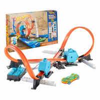 Hot Wheels карусель трек игрушки модели автомобилей Классические игрушки автомобиль подарок на день рождения для детей Pista литья под давлением