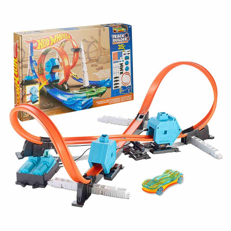 Hot Wheels rond-point piste jouets modèles voitures jouets classiques voiture cadeau d'anniversaire pour enfants Pista moulé sous pression Juguetes pour enfants