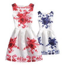 Family Matching Clothes mae e filha Family Look Fashion Mother Daughter Dresses Summer 2018 Flower Print Mom and Daughter Dress