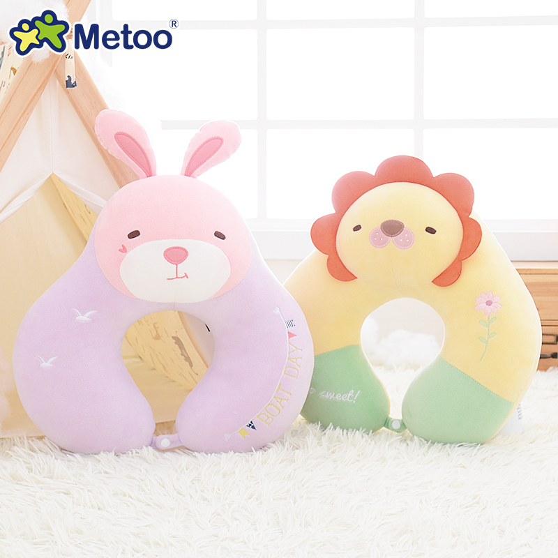 Metoo Cushion Pillow Plush U Pillow Nap Neck  Stuffed Animal Cartoon Kids Toys Girls Children Birthday Christmas Panda Doll S75 1pc 65cm cartion cute u shape pillow kawaii cat panda soft cushion home decoration kids birthday christmas gift