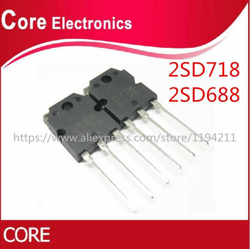 2pair 2SD718 2SB688 Transistor (2 x D718 + 2 x B688) New