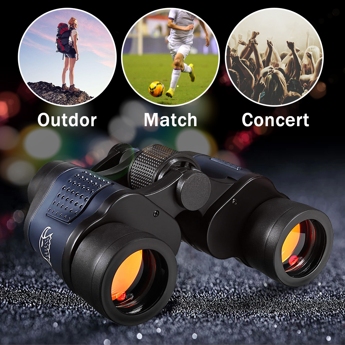 Night Vision 60x60 3000M High Definition Outdoor Hunting Binoculars Telescope HD Waterproof For Outdoor Hunting new 60x60 optical telescope night vision binoculars high clarity 3000m binocular spotting scope outdoor hunting sports eyepiece