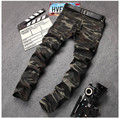 New Mens Camouflage Jeans Motocycle Camo Military Slim Fit Famous Designer Biker Jeans With Zippers Men