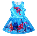 Children's Clothing Cartoon Trolls Girls Dress with Short Sleeves Clothing Girls Dresses For Party Wedding Kids Dress Princess