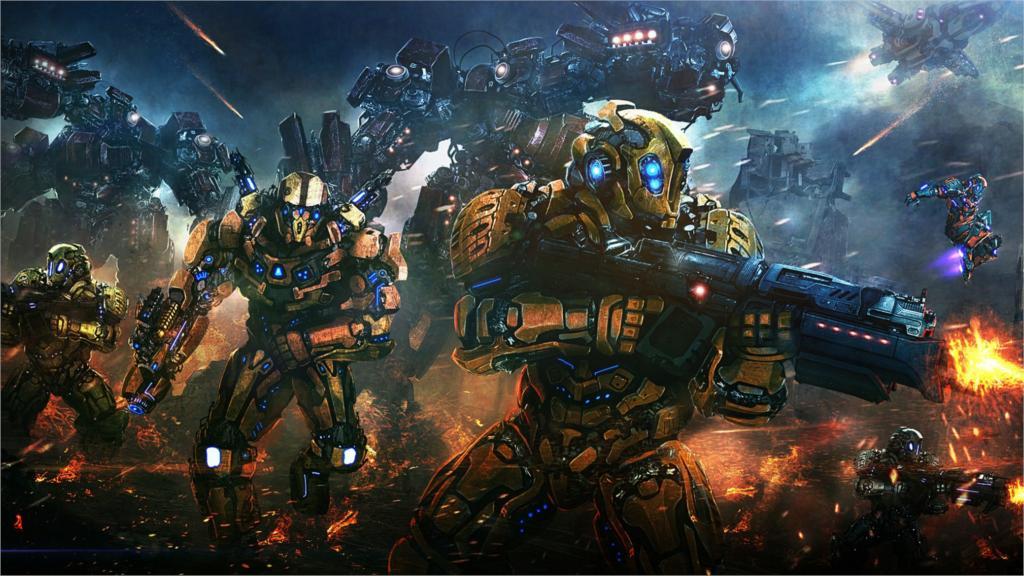 <font><b>last</b></font> <font><b>battle</b></font> fight robot helmet 12x18 20X30 24X36 32x48 inch Poster Print 1