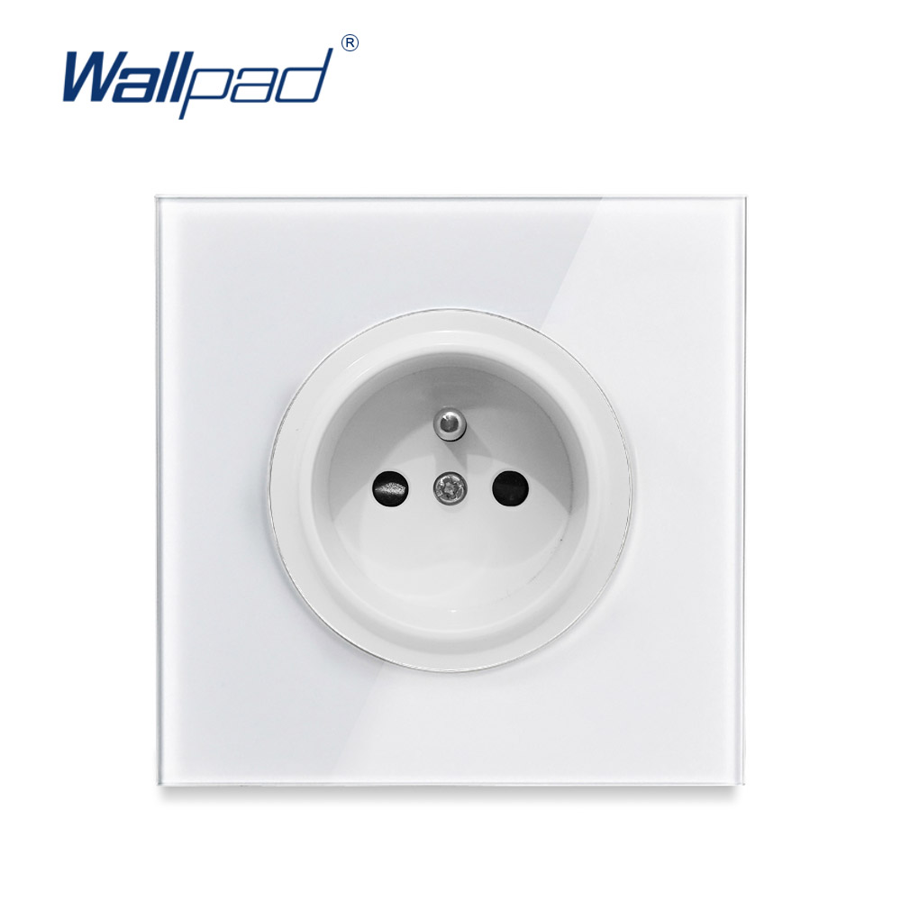Wallpad 2019 New Arrival Crystal Glass Panel 16A EU French Standard Wall Power Socket Outlet Grounded With Child Protective LockWallpad 2019 New Arrival Crystal Glass Panel 16A EU French Standard Wall Power Socket Outlet Grounded With Child Protective Lock