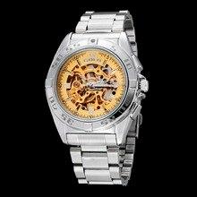 GOER brand men s mechanical watches Automatic Skeleton stainless steel Luminous digital waterproof male Wrist watch