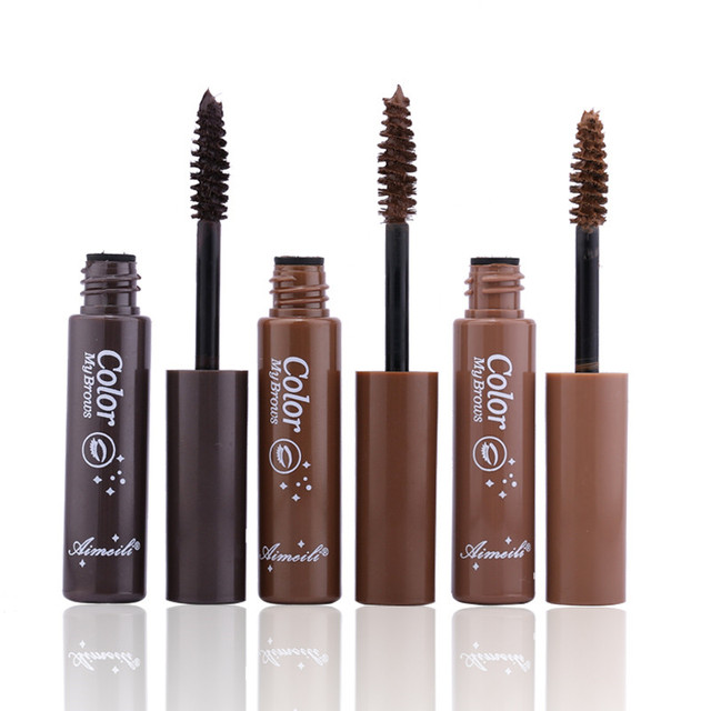 3 Colors Long Lasting Waterproof Eyebrow Mascara Cream Eye Brow Shadow Makeup Beauty Comstic Tools with Brush