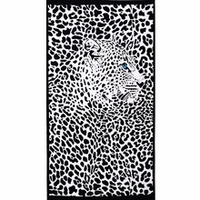 Negro rectangle leopart microfiber bath beach towel manta de viaje de camping mochilero piscina 150×70 cm de gran tamaño 180×100 cm